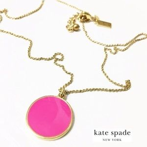 Kate Spade Pink Disc Pendant Necklace